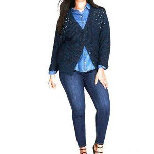 Lane Bryant NWT Jewel Embellished Dolman Cardigan